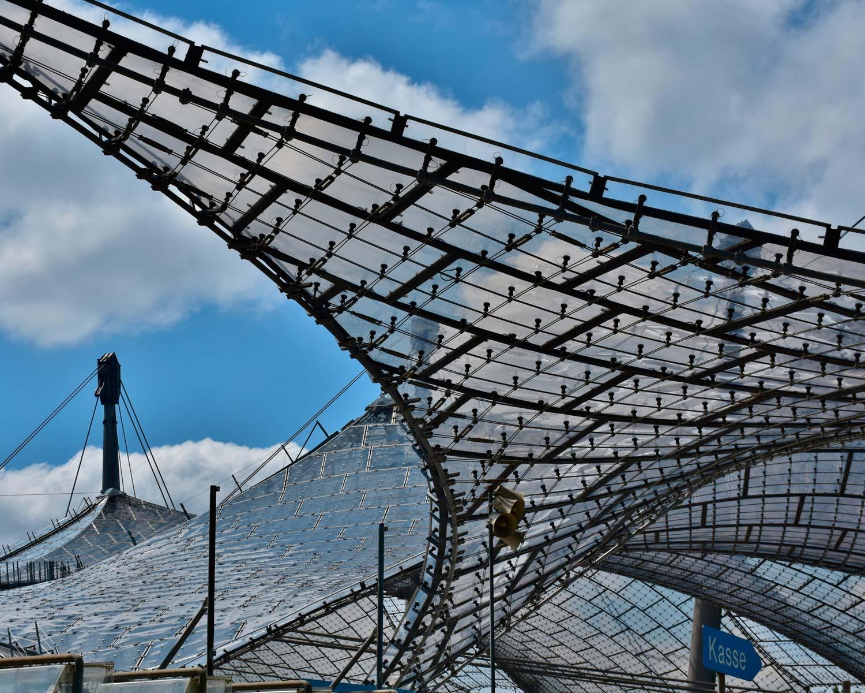 Dach des Olympiastadiums München
